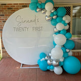 White Acrylic wall to hire with Organic Balloons