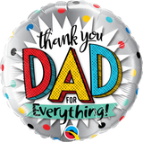 Thank You Dad for Everything! Foil 45cm Balloon #55818