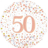 50th Birthday Foil Rose Gold Sparkling Fizz 45cm Balloon #227130