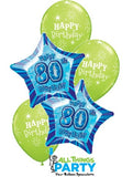 80th Birthday Lime Green Star Dazzler Bouquet #80BD05