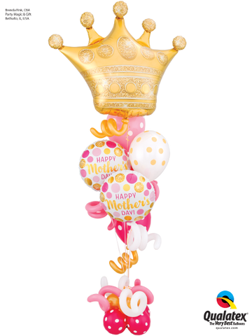 Queen on Mother's Day Queen Pink & Gold Balloon Bouquet