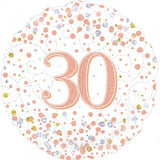 30th Birthday Foil Rose Gold Sparkling Fizz 45cm Balloon #227116