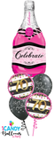 70th Birthday Pink Champagne Celebrate Balloon Bouquet #70BD11