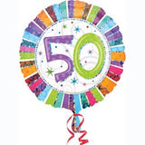 50th Birthday Foil 45cm Radiant Balloon #16071