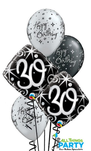 30th Birthday Sparkle & Swirls Bouquet #30BD02