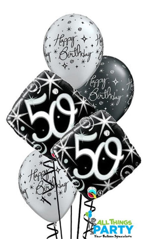 50th Birthday Sparkle & Swirls Bouquet #50BD02
