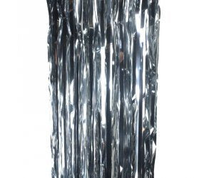 Silver Tinsel Curtain Backdrop 90cm x 2m