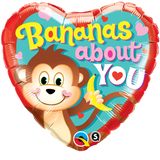 Banana's About You Foil Heart #21841