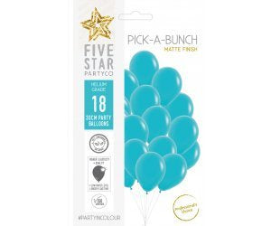 Teal (Caribbean Blue) Latex Balloons 30cm Unfilled 18pk