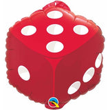 Casino Foil Balloon Red Dice #98446