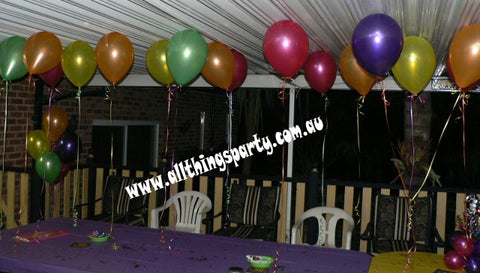 20+ Ceiling Helium Balloons on strings (48 hour Float Time)