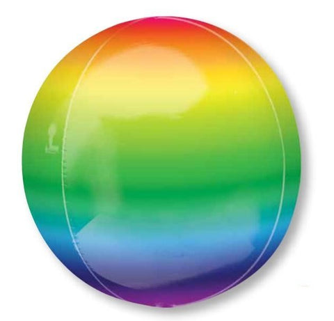 Ombre Orbz Bright Rainbow Balloon #28777