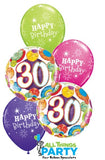 30th Birthday Balloon Popular Multi Coloured Bouquet #37896
