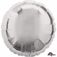 Silver Round Foil Mirror Finish Balloon #20576