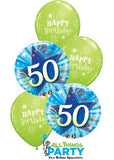 50th Birthday Lime Green Star Bouquet