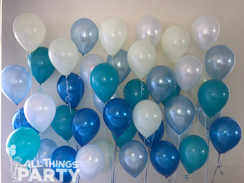T6 Balloon Centrepiece 6 latex on balloon weight (48 hour float time)