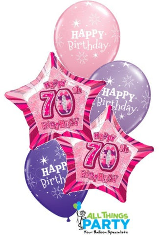 70th Birthday Pink Star Dazzler Bouquet #70BD06