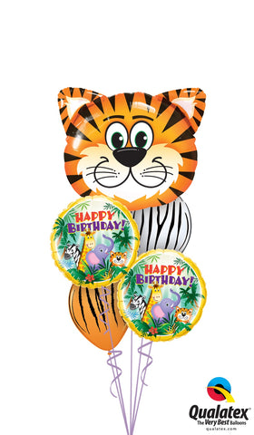 Tiger Safari Birthday Balloon Bouquet