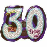 30th Birthday Foil Supershape Oh No Balloon #116049