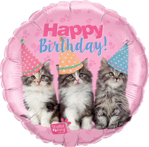 Happy Birthday Pets Foil Kittens Balloon #57623
