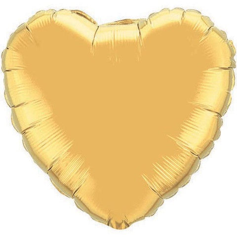 Gold Heart Foil Mirror Finish 43cm Balloon #10585