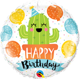 Cactus Fun Birthday Foil 45cm Balloon #78664