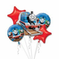 Thomas The Tank Engine Foil Balloon Bouquet 5pk #24895