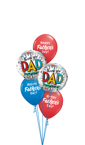 Happy Fathers Day Thank you Balloon Bouquet #DAD2