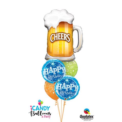 Cheers & Beers Birthday Balloon Bouquet