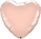 Rose Gold Heart Foil 45cm Balloon #57047