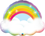 Rainbow Foil Balloon with cloud #97538