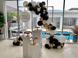 PACKAGE PRICE Organic Balloons with Gold Frame Hire
