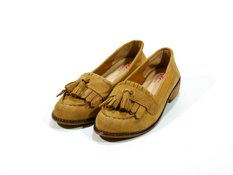 Sienna Brown Tassel Loafers