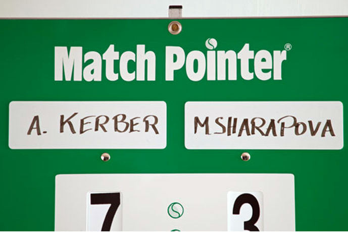 Customizable name plates for tennis scoreboard