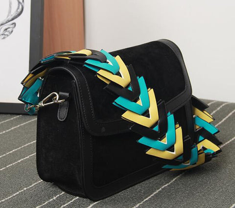 Devil In the Strap - Colorful Chic Leather Shoulder Bag