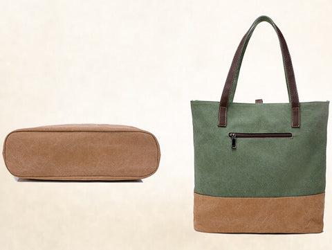 Canvas Buckle Shopping Tote