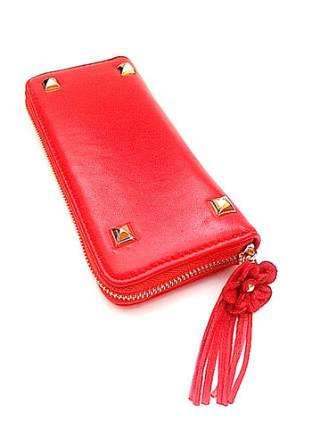 Flower Power Wallet - Red