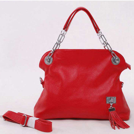Elegant Tassel Shoulder Bag - Red
