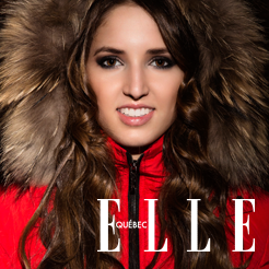 Bang Couture coat featured on Elle Quebec