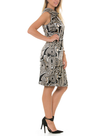 Odile - Multi-purpose dress with geometrical design inspired by the 70's