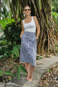 Cotton Striped nautical skirt