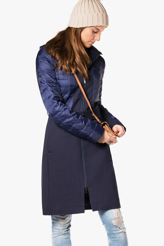 Refreshing urban coat -mix of Down and Fabric
