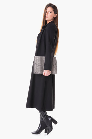 Perfect long stretched Jersey coat