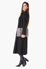 Karina – Perfect long stretched Jersey coat
