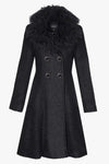 Luxurious 3/4 wool coat