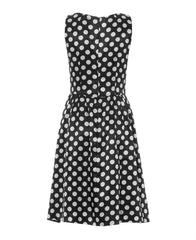Dana - Polka-dot dress with fit-and-flare silhouette