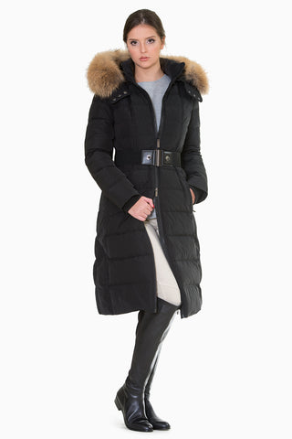 Dona -Simple and stylish belted down coat