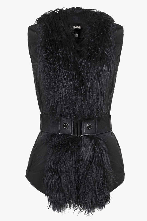 Chic vest with luxurious Tibetan fur
