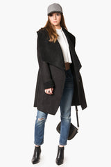 Warm Suede Sherpa with Big Collar