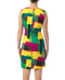 Vibrant yet classy stretch-fabric dress flatters your silhouette